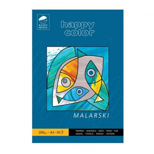 Blok malarski Happy Color - 200g, 10ark, A3.jpg