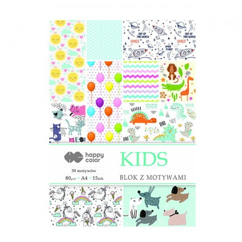 Blok do scrapbookingu Happy Color - 80g, 15ark, A4 - Kids.jpg